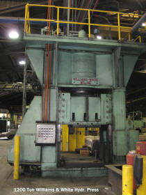 Liquidation price on this used 1200 tion Williams and White hrdraulic press located in Southern California production plant