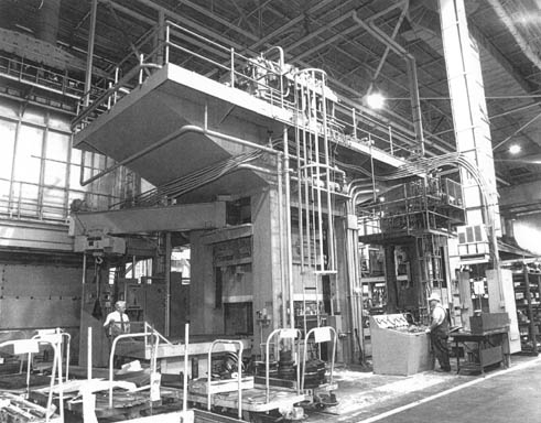 3500 Ton 1956 Clearing 4 Column Hydraulic Forging Press