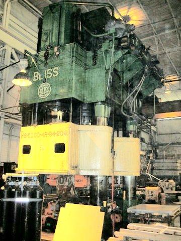 5000 Ton Lake Erie Triple Action Hydraulic Press Mfgr Date