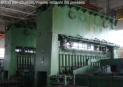 (USI Clearing) straight side single crank chassis or frame press in excellent working condition. Model # S2-6000-1100-200