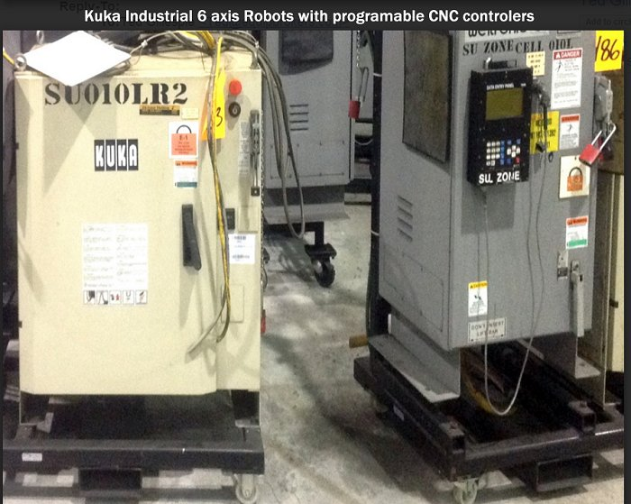 For Sale over 300 used Industrial assembly Robots with CNC